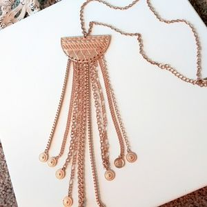 Statement Necklace Rose gold color